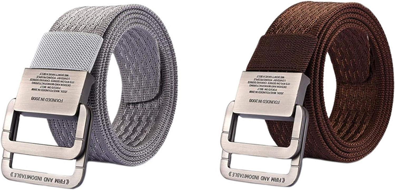 MESHIKAIER Unisex Nylon Cinturón Mujer Hombre Ajustable Militar Táctico Cinturón Deport Cinturón Casual Cinturón + Metal Hebilla