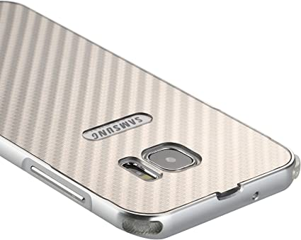 Coque Samsung Galaxy S7 Argent,M/étal Bumper Housse,Slynmax Cristal Clair Etui Aluminium Pare-Choc et PC Arriere Rigide Coque Ultra Mince Lisse M/étal Cool Etui Couverture pour Samsung Galaxy S7