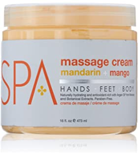 BCL Spa Mandarin and Mango Massage Cream, 16 Ounce