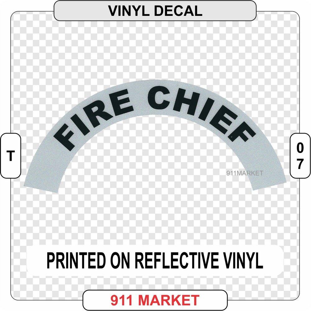 911 Market Fire Chief Reflective Vinyl Sidebar Firefighter Sticker Helmet Decal - T 07