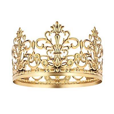 Pleasant Bestonzon Gold Crown Cake Topper Vintage Crown Gold Funny Birthday Cards Online Inifofree Goldxyz
