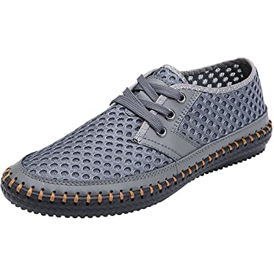 Forucreate Men's Summer Breathable Mesh Casual Walking Shoes Driving Loafers | Loafers & Slip-Ons