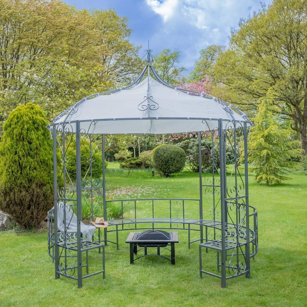 Primrose Abbotsford - Carpa de metal con banco (3 m x 3 m): Amazon.es: Jardín