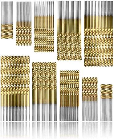 50 En 1 Revêtement Titane Haute Vitesse Acier HSS Drill Bit Set Outil 1//1.5//2//2.5//3mm