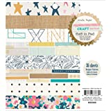 Crate Paper Market Patterned Paper Pad, 6 by 6-Inch