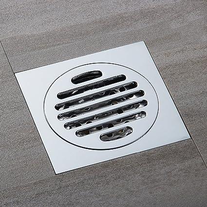 304 en Acier Inoxydable Caniveau de Douche Anti-Odeur Drain De Douche Noir Bonde de Douche pour WC Salle de Bain Cuisine 300mm /× 70mm HAUSELIEBE Rectangulaire Siphon de Sol