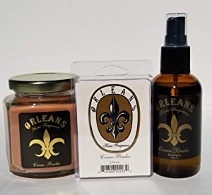 Orleans Home Fragrances - 9oz Candle, Room Spray, and Wax Melt (Creme Brulee)