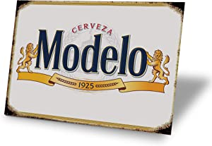 TINSIGNS Modelo Cerveza Beer Man Cave Decor Metal Sign Alcohol Home Party Bar Retro Vintage Signs (12X8IN)