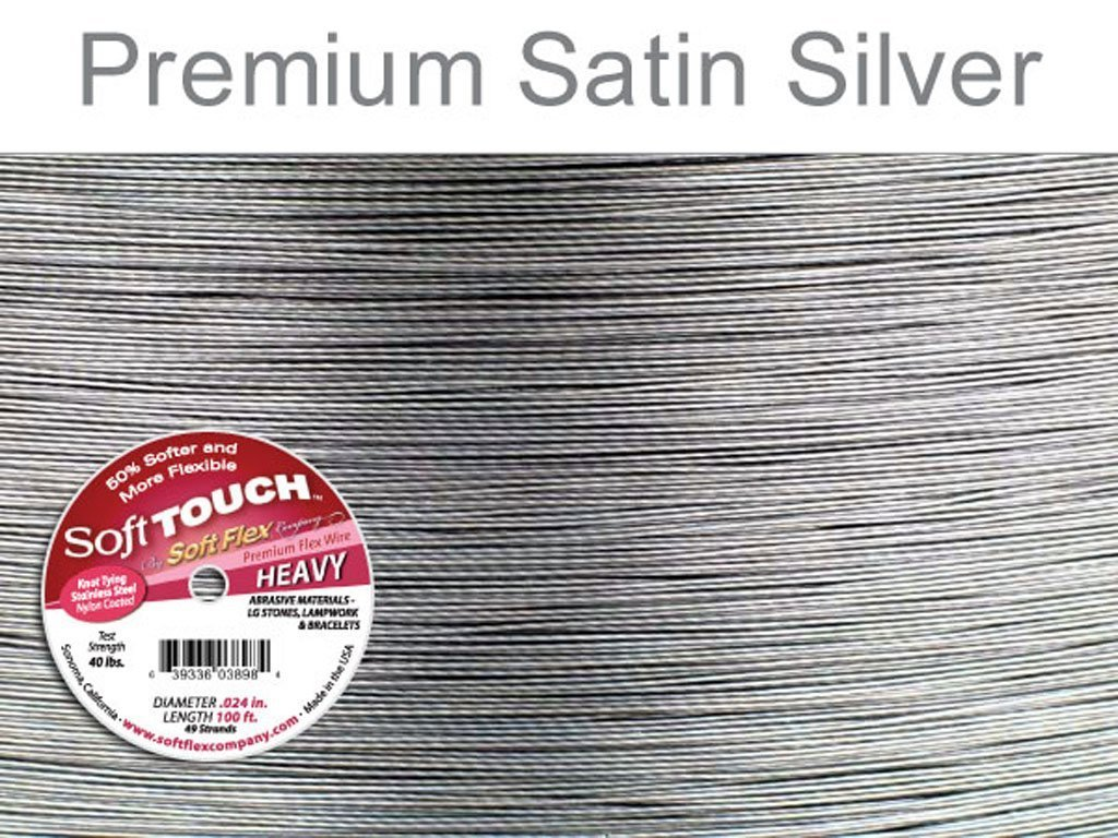Amazon.com: Soft Touch 49 strand Beading Wire .024 Inch 30 Ft Soft Flex