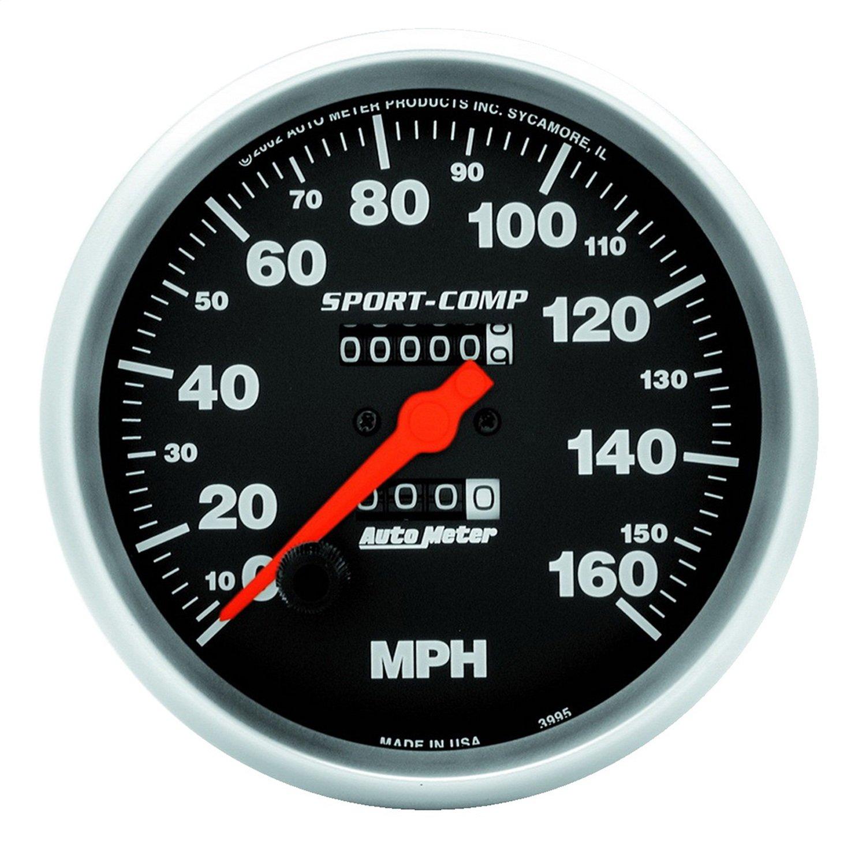 Auto Meter 3995 Sport-Comp In-Dash Mechanical Speedometer