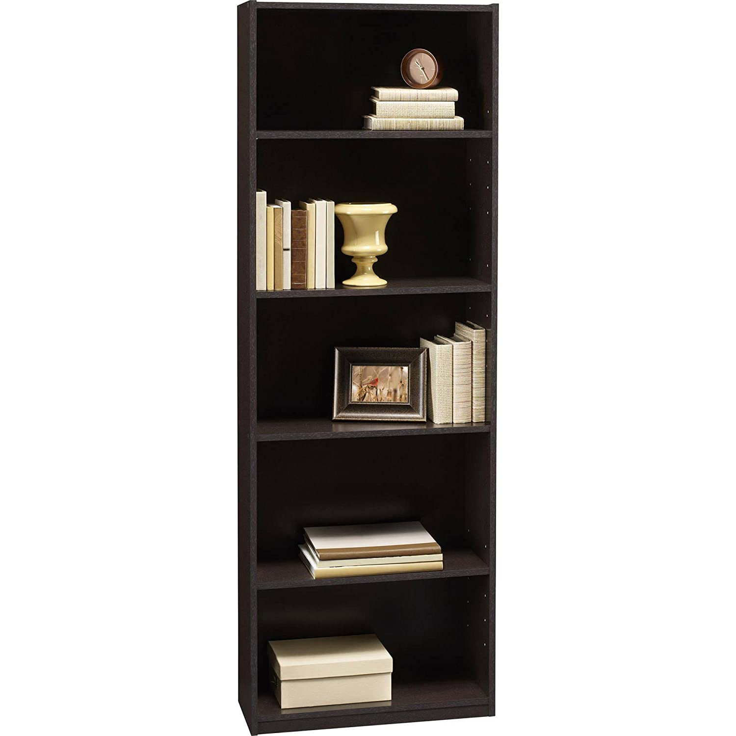 Amazon Ameriwood 5 Shelf Bookcases Set Of 2 Espresso Kitchen Dining
