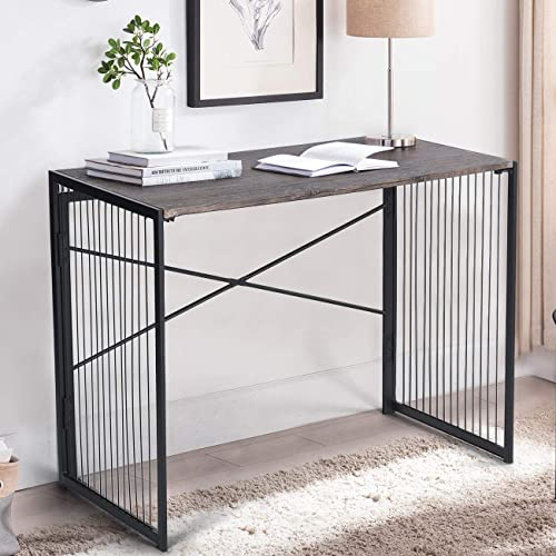 FurnitureR Modern Industrial Folding Writing Computer Desk