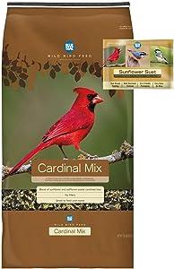 BLUE SEAL Cardinal Mix Bird Seed & Sunflower Suet Cake Bundle