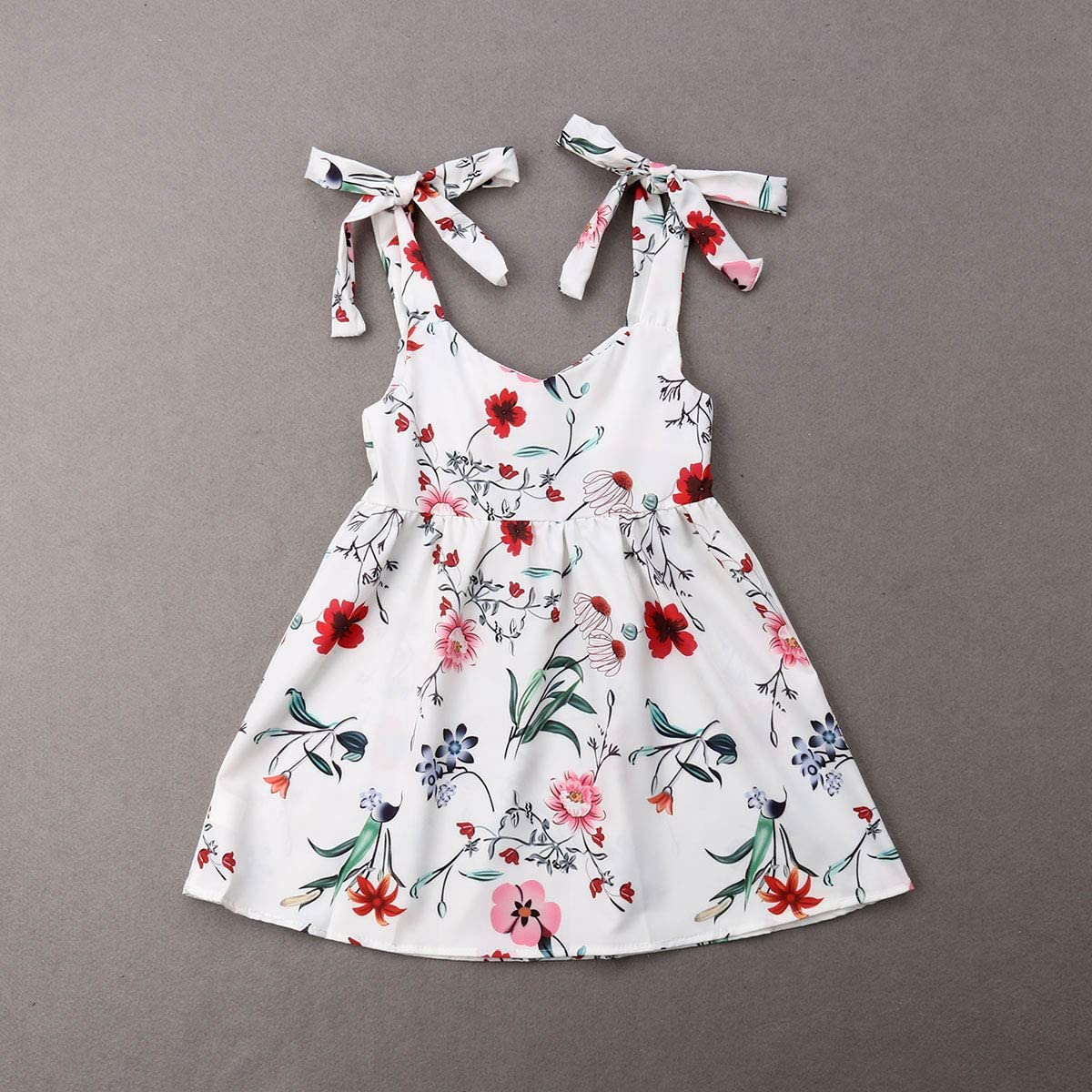 Mom and Baby Floral Dress Summer Ruffle Chiffon Sundress Mother and Daughter Matching Clothes