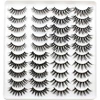 3D Sahte Kirpikler Göz Makyajı için 4 Stil Karışık Yanlış Kirpikler Doğal Uzun Kalın Kirpikler 20 Çift