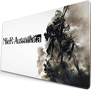 Nier Automata Classic Poster Anime Large Gaming Mouse Pad with Stitched Edges, Non-Slip Rubber,Water Resist Keyboard Pad.Base for Work & Gaming, Office & Home.(15.8x29.5 Inch)