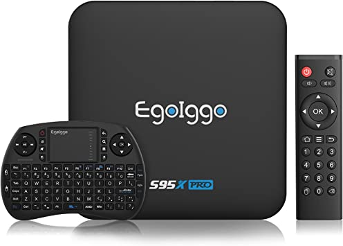 [2 + 16G/Mini teclado] egoiggo S95 X Pro Android TV Box/Wireless Mini teclado/2GB + 16GB/Quad Core/4 K/2.4G WiFi Android 6.0 Smart TV Box