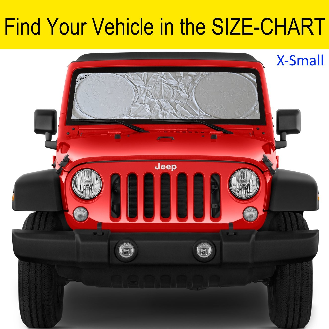 Windshield Sun Shade SUV Car Hassle-Free Size Chart with Your Vehicle Universal Quality-210T Keep Vehicle Accessories Cool UV Sun and Heat Reflector Sunshade (Large) A1 Shades