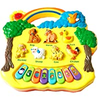 Vivir Kids Lights and Musical Animal Farm Piano Keyboard