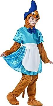Disfraz de ratón de cuento de señora de peluche 3 piezas color azul ...
