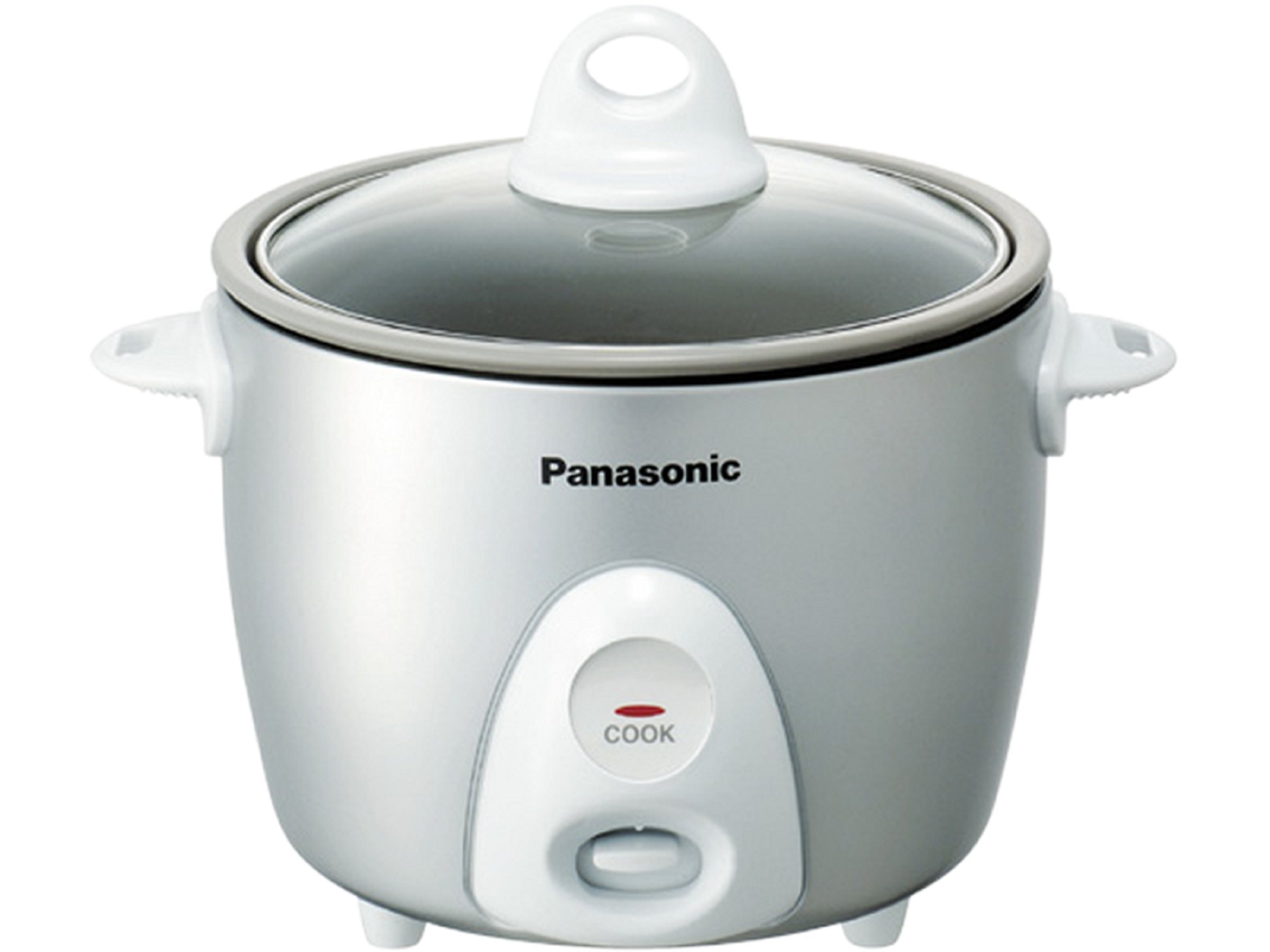 Panasonic SR-G06FGL 3-Cup, 1-Step Automatic Rice Cooker, Silver