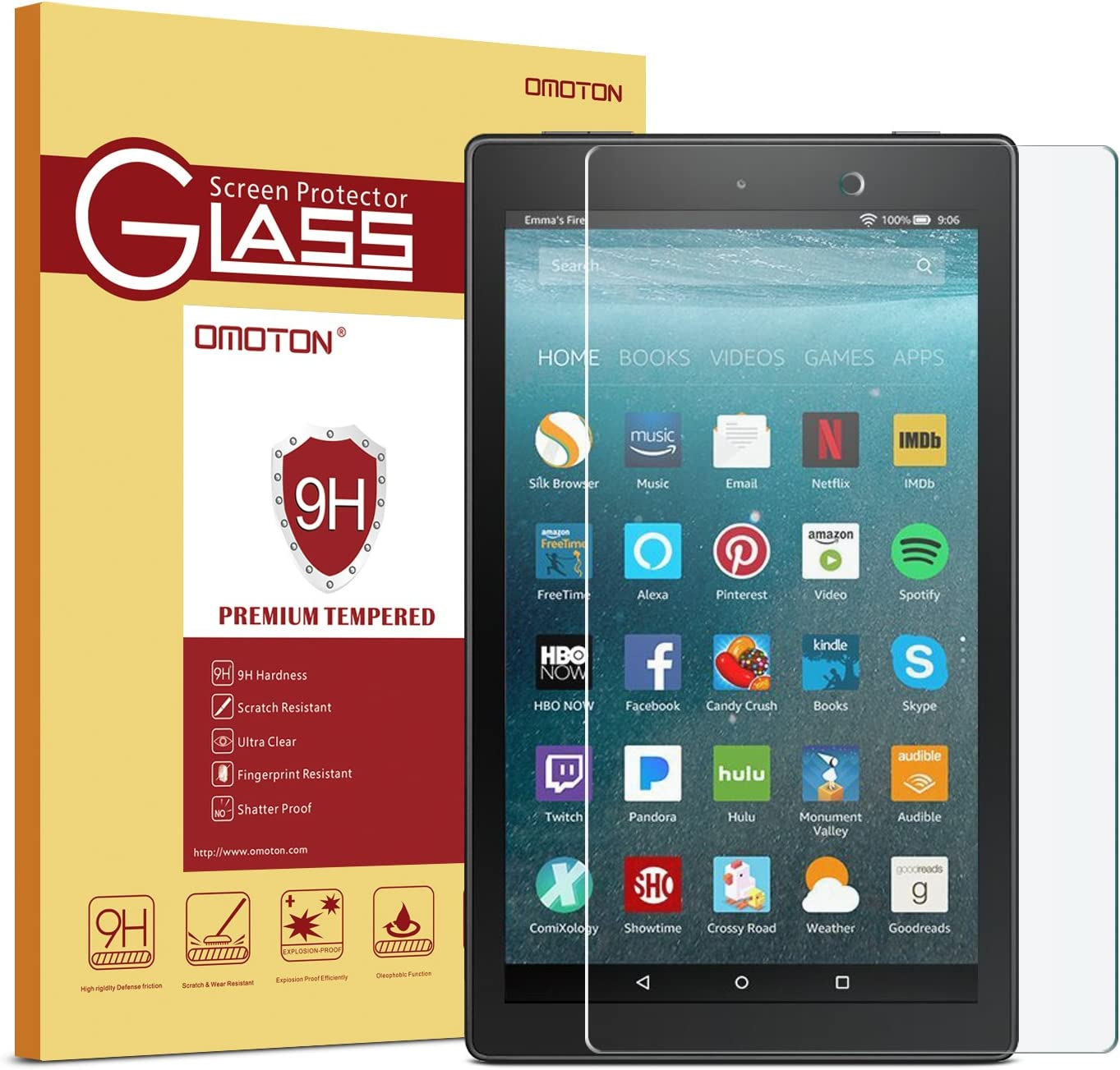 2X Clear Screen Protector Guard Shield Saver Cover For Amazon Kindle Fire 6 7 8