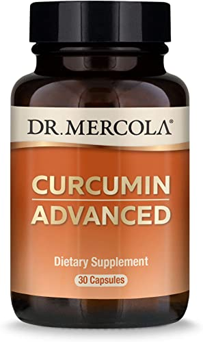 Dr. Mercola Curcumin Advanced, 500mg, 30 Servings 30 Capsules Curcumin Supplements, Curcumin Spice, Non GMO, Soy-Free, Gluten-Free, Curcumin Root Extract