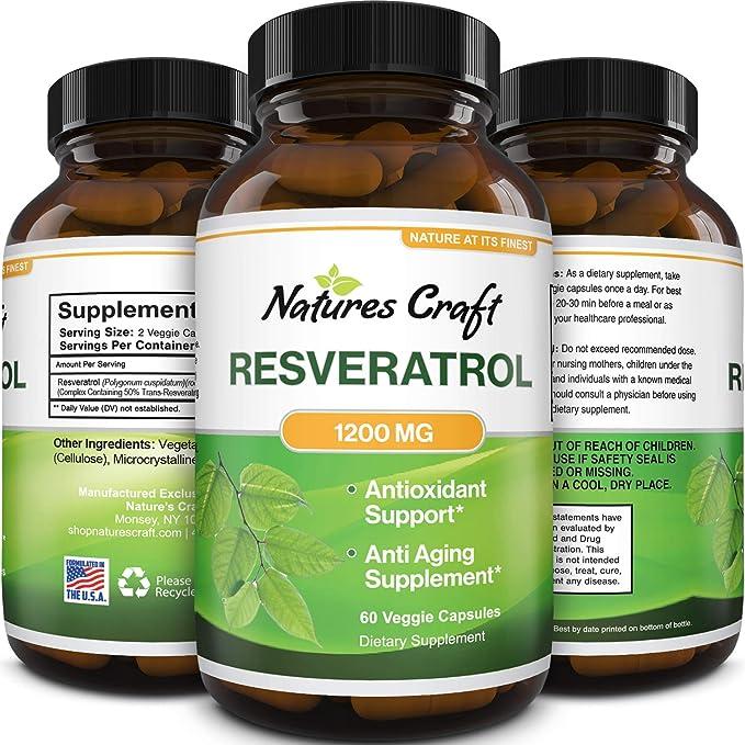 Amazon Com Anti Aging Trans Resveratrol Supplement Natural