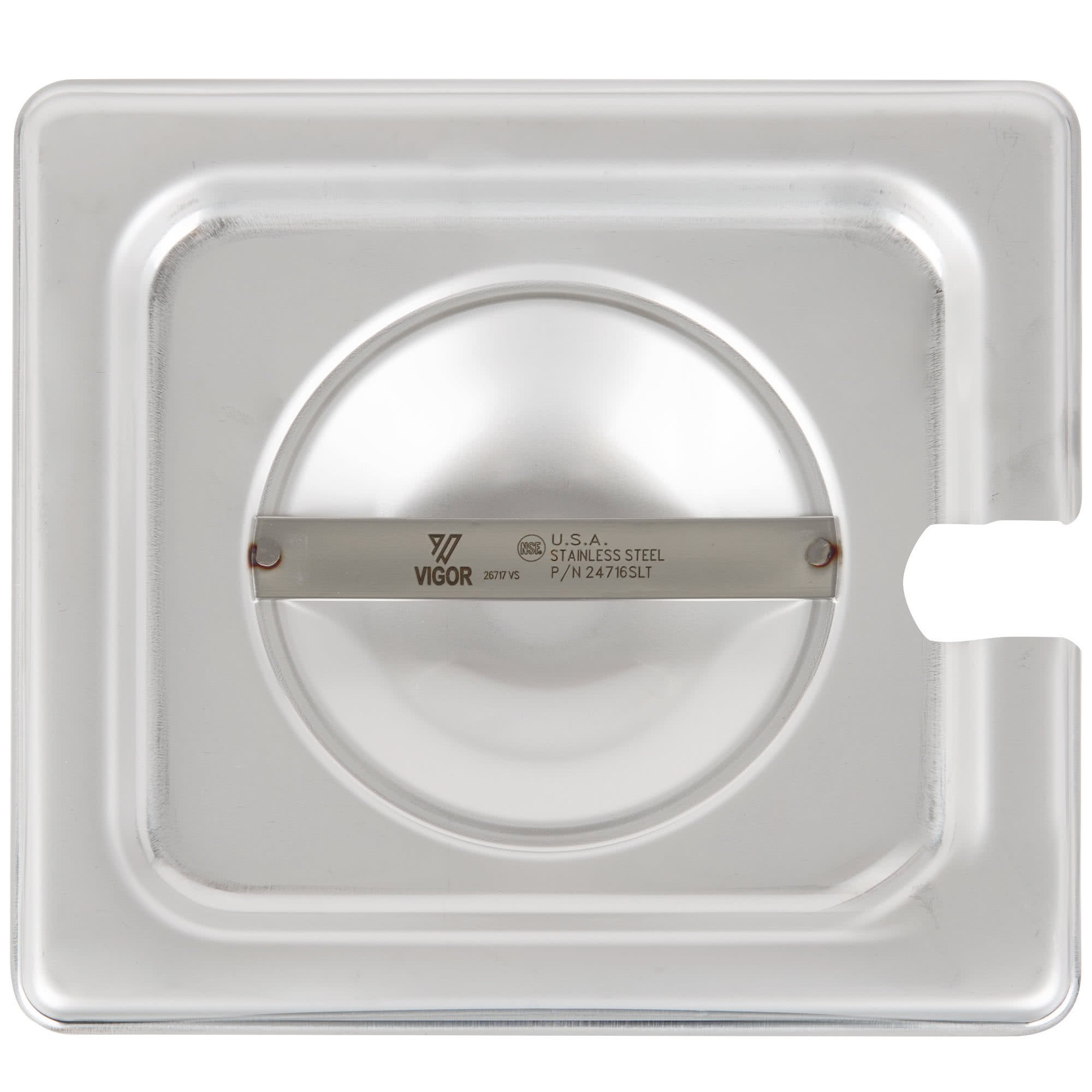 TableTop King 1/6 Size Slotted Stainless Steel Steam Table / Hotel Pan Cover