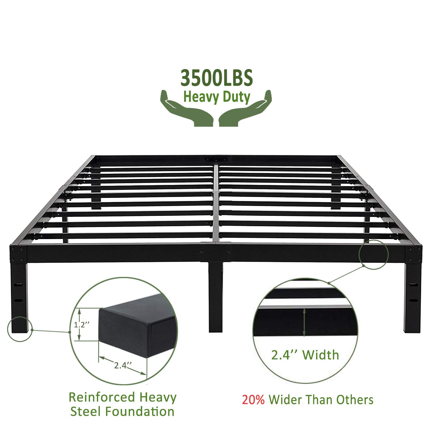 Heavy Duty Bed Frames For Obese People And Overweight | For Big & Heavy  People