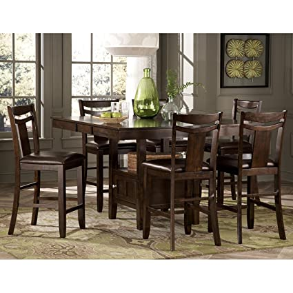 Tremendous Amazon Com Balladonia 9 Piece 36 54 Inch Counter Height Gmtry Best Dining Table And Chair Ideas Images Gmtryco