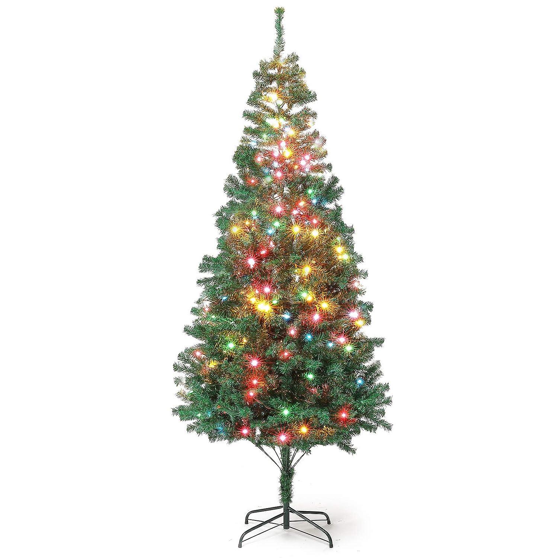 Artificial Christmas Tree Branches.Amazon Com 7ft Artificial Christmas Pine Tree Hinged 1000