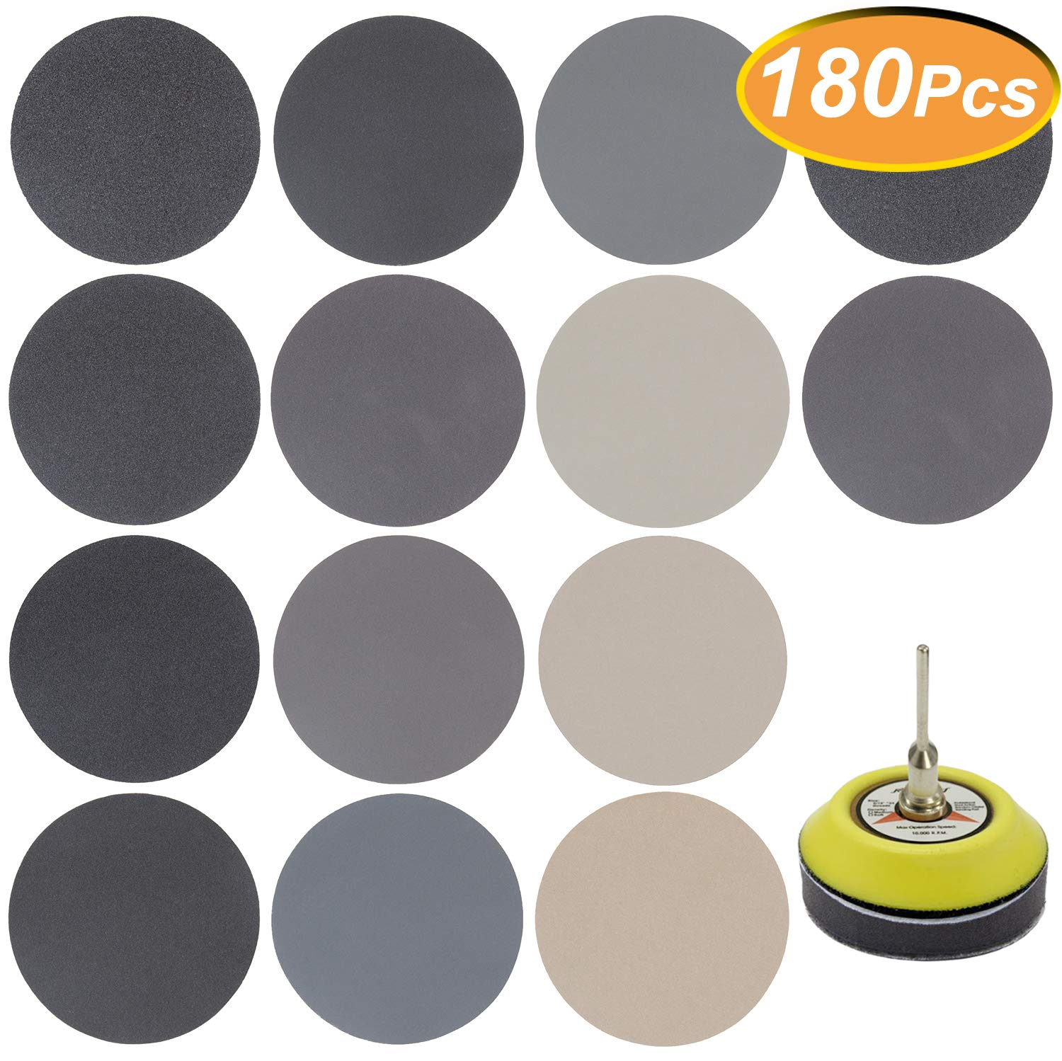 GOH DODD Wet Dry Water Sander Sheets 3000//5000//7000//10000 Grits 3 Inch Grinding Abrasive Sanding Disc for Wood Furniture Finishing Metal Sanding and Mirror Jewelry Car Polishing 40 PCS Sandpaper