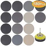 180 PCS 3 Inch Sandpaper, GOH DODD Wet Dry Sander