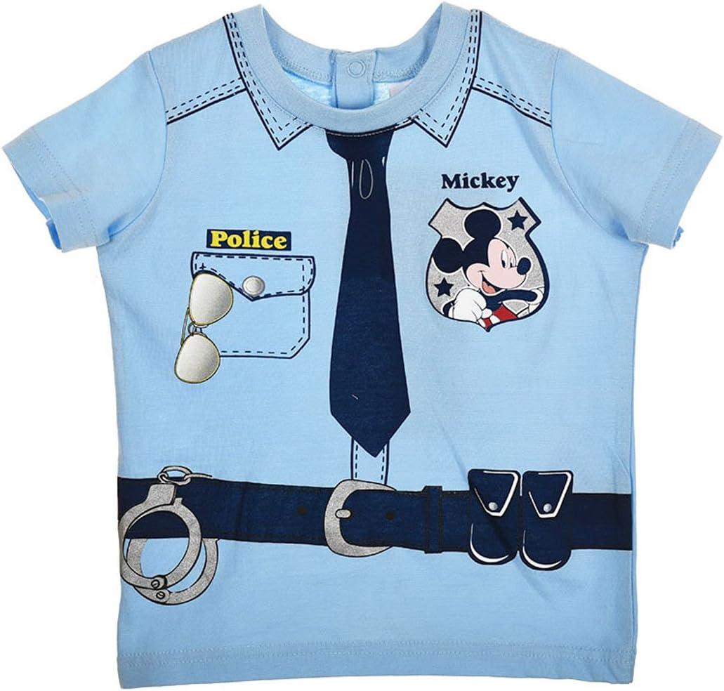 Camiseta de manga corta para bebé, diseño de Mickey Mouse silbato ...