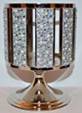 Bath & Body Works Gem & Pearls Striped Pedestal 3 Wick Candle Sleeve Holder