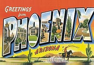 Greetings from Phoenix, Arizona, AZ, US, Souvenir Magnet 2 x 3 Fridge Photo Magnet