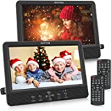 """WONNIE 10.5"""" Two DVD Players Dual Screen for Car Portable CD Player Play a Same or Two Different Movies with Two Mounting Bra"""