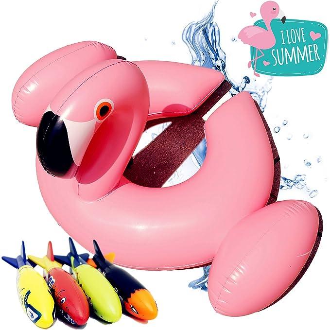 Amazon.com: conhenci Flamenco rosa hinchable y tucán ...
