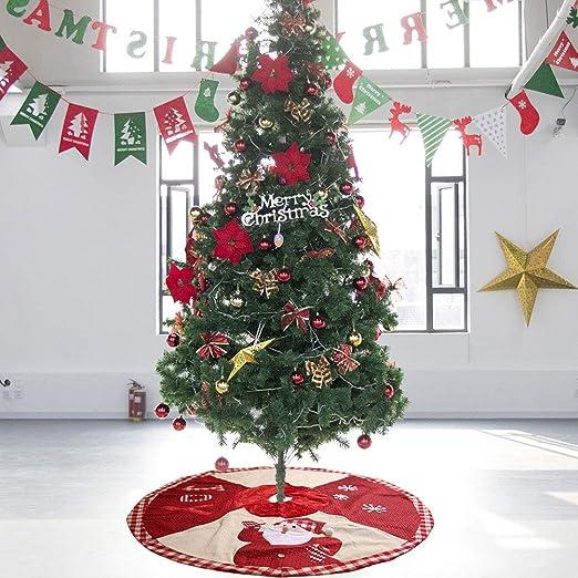 HHUMR Falda del Árbol De Navidad De La Red 102Cm Falda del Árbol ...