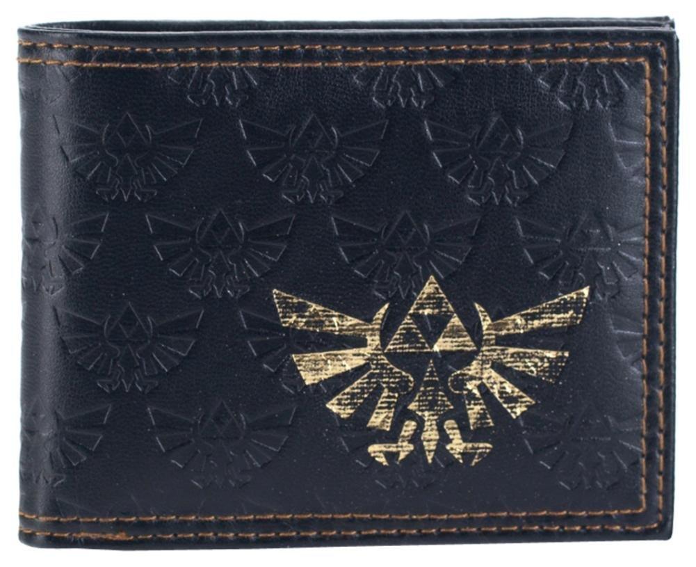 All Over Emboss With Gold Foil Bi-Fold Wallet 2 x 2in Zelda