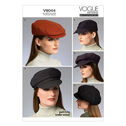 e462d45b134 Amazon.com  Vogue Patterns V9044 Hats in Five Styles by Patricia ...