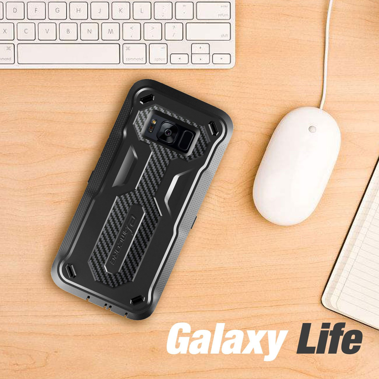 Galaxy S8 Rugged Case, eSamcore Samsung Galaxy S8 Slim Protective Case with Heavy Duty holster [Without Built in screen protector] 5.8 Inch [2017 Release] [BLACK]