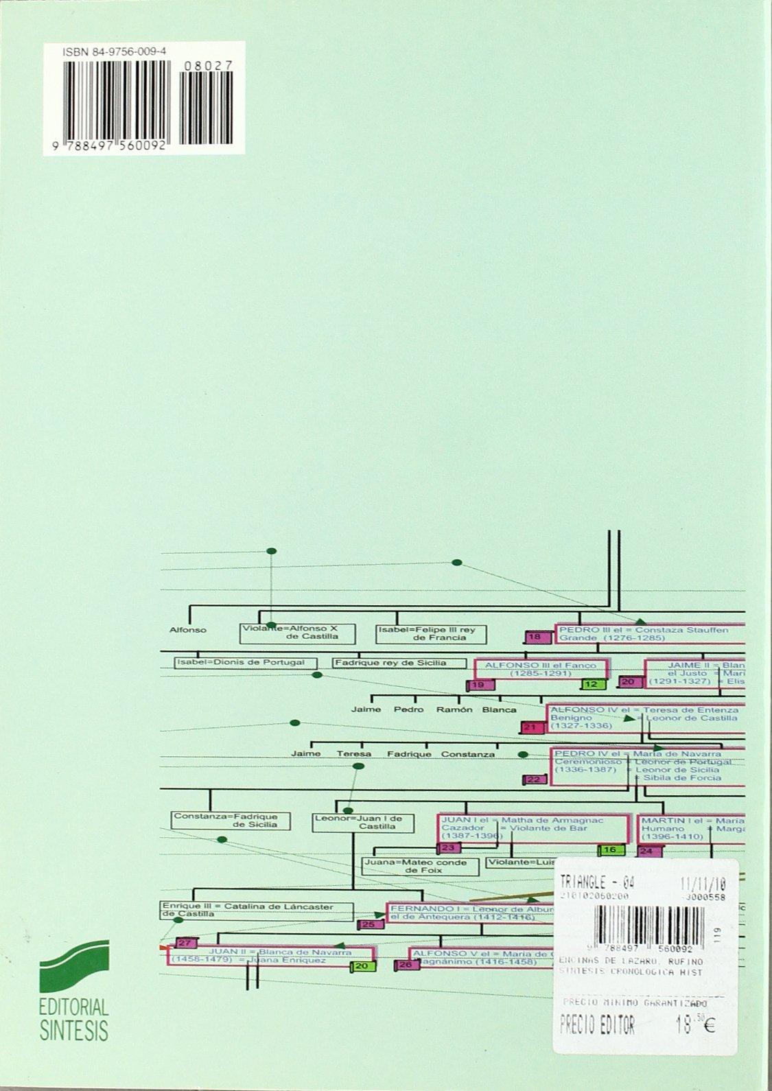 Síntesis cronológica de la historia de España: 27 Atlas históricos: Amazon.es: Encinas de Lázaro, Rufino: Libros