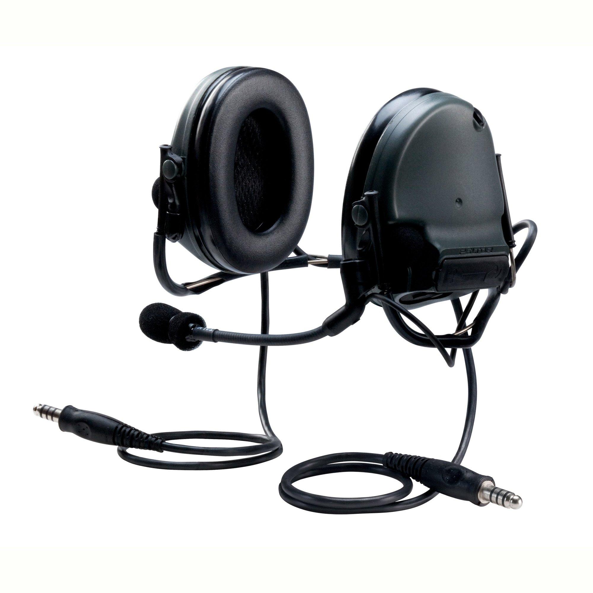 3M PELTOR SWAT-TAC 93353 PELTORSWAT-TACIII MT17H682BB-19 SV ACH Communication Headset, Dual COMM, Neckband, 6.25'' Height, 8.38'' Length, 6.06'' Width, Black
