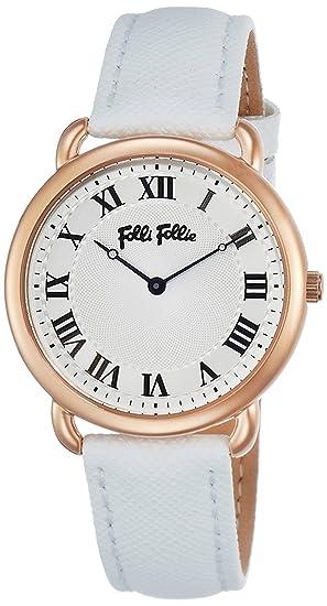 FolliFollie ERFECT MATCH Safia Roh Reloj de piel S WF16R013SPS-WHH para mujer