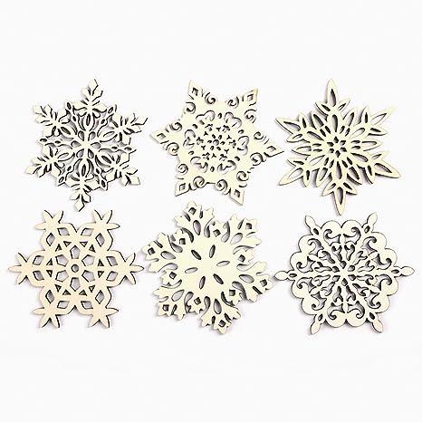 Posavasos de madera copo de nieve taza soporte para bebidas y café decoración de la mesa