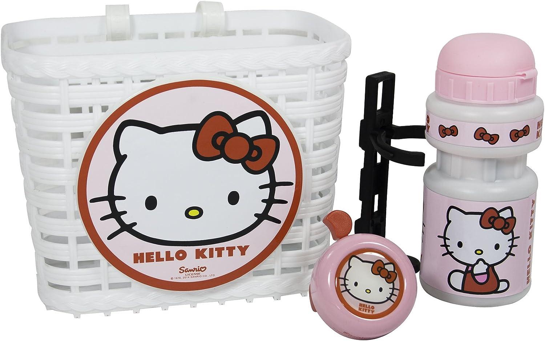 HELLO KITTY - Lote de Cesta, Botella de Agua y Timbre para ...