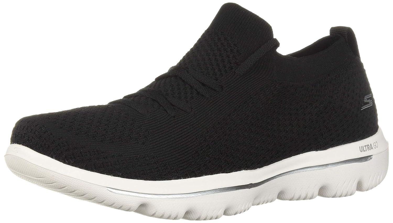 Black White Skechers Womens Go Walk Evolution Ultra - 15742 Sneaker