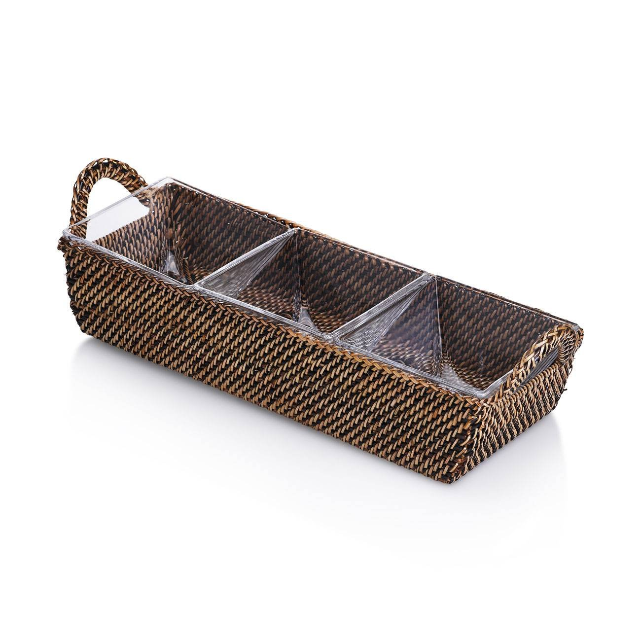 Calaisio Rectangular Tray with 3 Glass Dishes